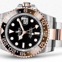 Rolex GMT-Master II Золото/Cталь 40mm Черный Без цифр