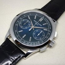 Patek Philippe Platinum Manual winding Blue No numerals 39mm pre-owned Chronograph