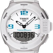 Tissot T-Race Touch Stål 42.2mm Hvid Arabertal