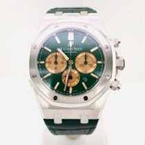 Audemars Piguet Royal Oak Chronograph Platinum 41mm Green No numerals