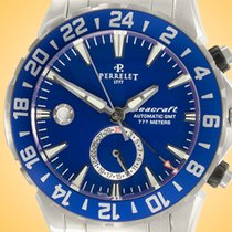 Perrelet Seacraft Staal 42mm Blauw Arabisch