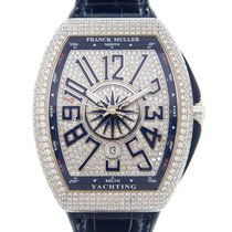 Franck Muller White gold Automatic Blue 45mm new Vanguard