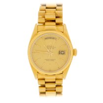 Rolex pre-owned Automatic 36mm Gold Sapphire Glass 10 ATM