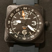 Bell & Ross BR 01-93 GMT Steel 46mm Black Arabic numerals United States of America, Idaho, Boise