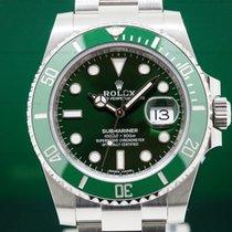 Rolex 116610LV Submariner Green Ceramic Bezel Green Dial...