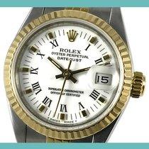 Rolex Oyster Perpetual Lady Date Acero y oro 26mm Blanco Romanos España, Barcelona