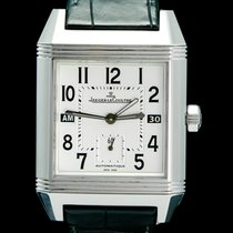 Jaeger-LeCoultre Steel Automatic White Arabic numerals 36mm pre-owned Reverso Squadra Hometime