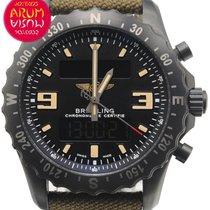 百年靈 Chronospace Military 二手 46mm 黑色 計時碼錶 紡織
