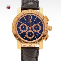 Bulgari pre-owned Automatic 42mm Blue Sapphire crystal 3 ATM