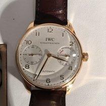 IWC Portuguese (submodel) Açık kırmızı altın 42mm Gümüş Arapça