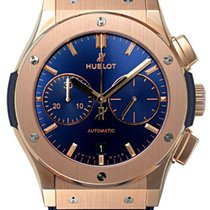 Hublot Classic Fusion Blue Chronograph King Gold 45mm