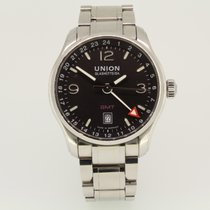 Union Glashütte Belisar GMT Steel 41mm Black Arabic numerals