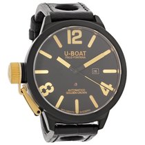 U-Boat Classico Mens Black Ceramic Swiss Automatic Watch 1215