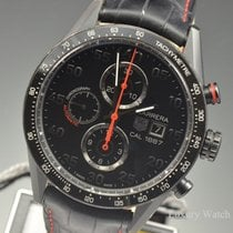 TAG Heuer Carrera Chrono Calibre 1887 Black Titanium Watch...