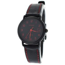 Tourneau Authentic Ladies  Black PVD Quartz Date Red
