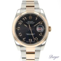 Rolex Datejust 36 Rolesor Everose Domed / Arabic