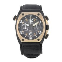 Bell & Ross BR 02 new Automatic Chronograph Watch with original box BR02-CHR-BICOLO