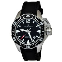 Hamilton Khaki Navy Frogman Steel 42mm Black Arabic numerals