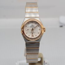 Omega Constellation Petite Seconde Gold/Steel 27mm Mother of pearl No numerals