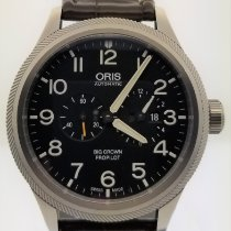 Oris Steel Automatic Black Arabic numerals 44.7mm new Big Crown ProPilot Worldtimer