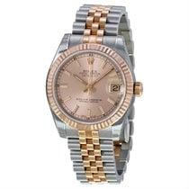 Rolex Lady-Datejust Zlato/Zeljezo 31mm Ružičasto