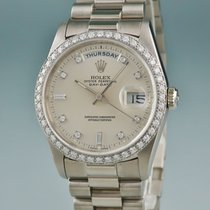 Rolex White gold 36mm Automatic 18349A pre-owned