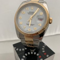 Rolex Datejust Zlato/Ocel 36mm Bílá Arabské