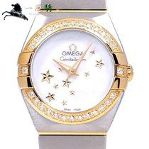 Omega Montre femme Constellation Quartz 24mm Quartz occasion Montre avec coffret d'origine et papiers d'origine