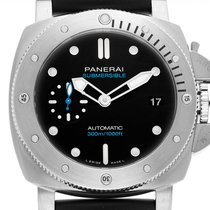 Panerai Luminor Submersible neu Automatik Uhr mit Original-Box und Original-Papieren PAM00973