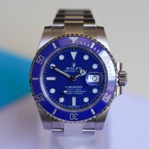 Rolex Submariner Date White gold 40mm Blue No numerals United Kingdom, London