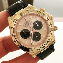 Rolex Daytona Ouro Amarelo / Couro Paul Newman Dial Completo
