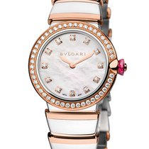 Bulgari LU28WSPGDSPG/12 Lucea Steel/Gold Diamonds Lady Watch