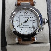 Cartier Pasha 2308 18k White Gold Automatic Date White Dial...