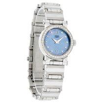 Movado Vizio Diamond Ladies Blue Mop Dial Stainless Stee Watch...