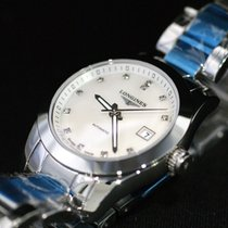 Longines CONQUEST CLASSIC Lady Full Steel Pearl Dial Diamonds...