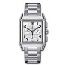 Jaeger-LeCoultre Reverso Squadra Chronograph GMT Staal 41mm Zilver