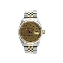 Rolex 16013_used_champagne_houndsthooth_stick Datejust 36mm in...