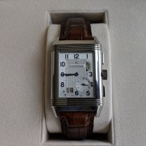 Jaeger-LeCoultre Manual winding pre-owned Reverso Grande Date Silver