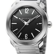 Bulgari new Automatic Display Back Center Seconds Screw-Down Crown Quick Set Only Original Parts 41mm Steel Sapphire Glass