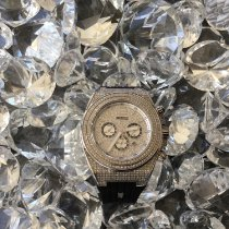 Otumm Acier 45mm Quartz Otumm Signature Full Diamond Watch nouveau