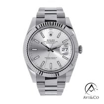 Rolex Datejust II Steel 41mm Silver No numerals United States of America, New York, New York