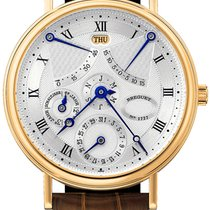 Breguet new Automatic Display back Guilloché dial Power Reserve Display 36.3mm Yellow gold