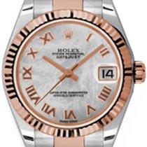 Rolex Datejust, Ref. 178271 - weiß römisch MOP ZB/Oysterband