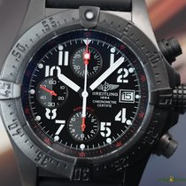 Breitling Men's Avenger Skyland Blacksteel on Rubber Limited...