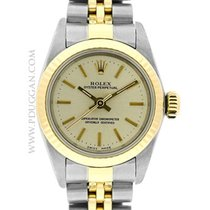 Rolex stainless steel and 18k yellow gold ladies Oyster...
