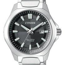Citizen Titanium 43mm Black No numerals