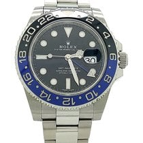 "Rolex Gmt-master II ""batman"" Stainless Steel Strap Black Dial..."