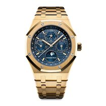 Audemars Piguet Royal Oak Perpetual Calendar Yellow Gold Blue...