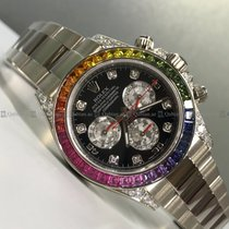 Rolex - Daytona 116599RBOW Diamond Bezel Black Dial WG
