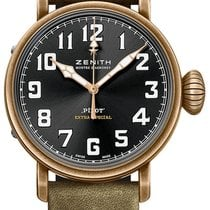Zenith Bronze Automatic Black 40mm new Pilot Type 20 Extra Special